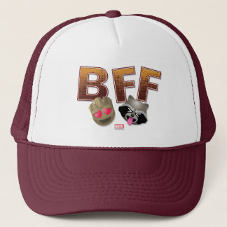BFF Groot & Rocket Emoji Trucker Hat