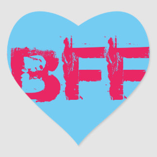 BFF Heart Stickers