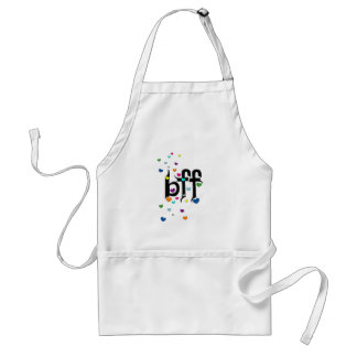 bff ~ hearts adult apron