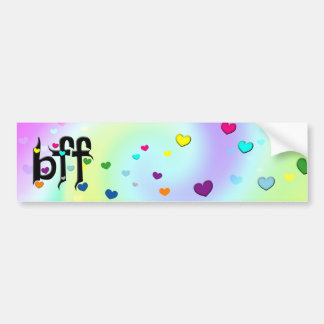 bff ~ hearts bumper sticker