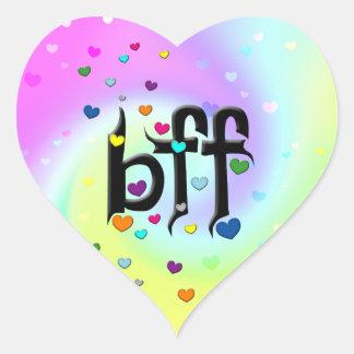 bff ~ hearts heart sticker
