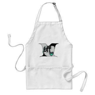 bff ~ lovebirds adult apron