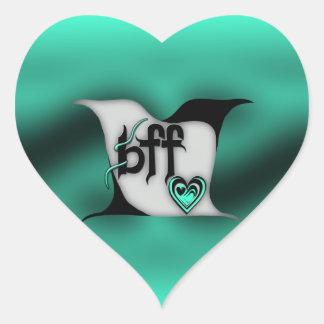 bff ~ lovebirds heart sticker