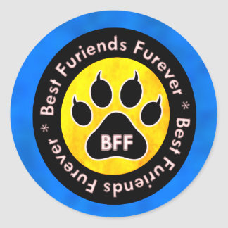 BFF - My Cat! Classic Round Sticker