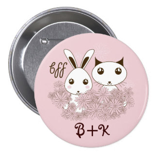 BFF - Original Girl Friendship Cute Animal Pink 7.5 Cm Round Badge