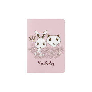 BFF - Original Girl Friendship Cute Animal Pink Passport Holder
