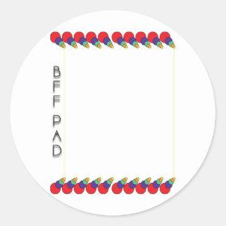 Bff Pad Round Sticker