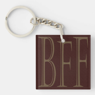 BFF Personalized Names on Back Keychain