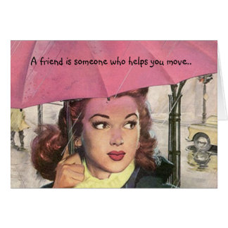 BFF Retro Friendship Fun Humor Secrets LOL friend Card