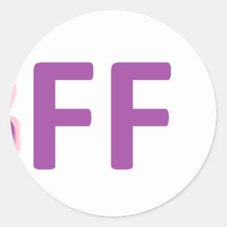 bff round sticker