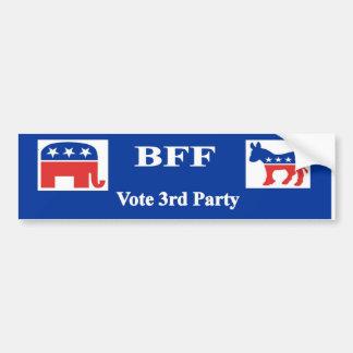 BFF Vote 3rd Party Bumper Sticker