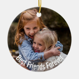 BFF With Your Photo Ceramic Ornament