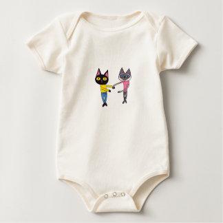 BFFs Cats (Pan & Chibi) Baby Bodysuit