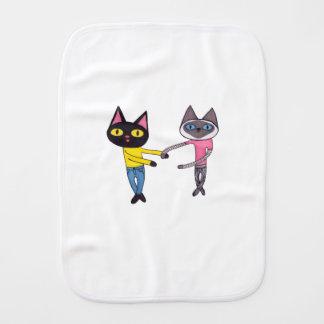 BFFs Cats (Pan & Chibi) Burp Cloth