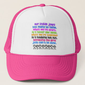 Bffs rock! <hat> trucker hat