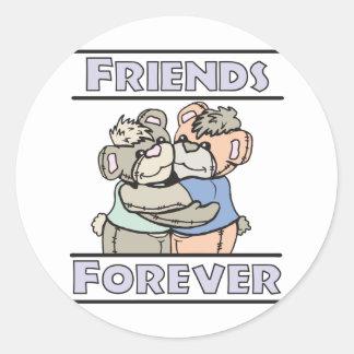 bffs round sticker