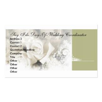 bg-1, Say I do Day-Of-Wedding Coordinator, Addr... Pack Of Standard Business Cards