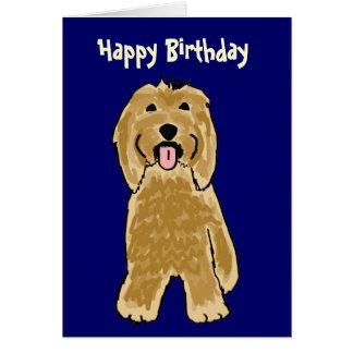 BG- Bearded Collie Birthday Card
