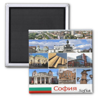 BG - Bulgaria - Sofia - Collage Magnet