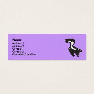 BG- Funny Skunk Business Cards... Mini Business Card