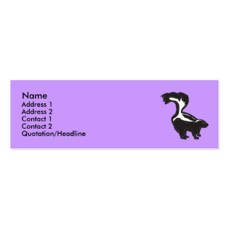 BG- Funny Skunk Business Cards... Pack Of Skinny Business Cards