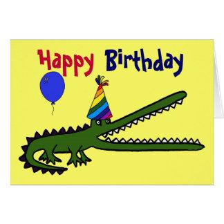 BG- Happy Birthday Crocodile Card