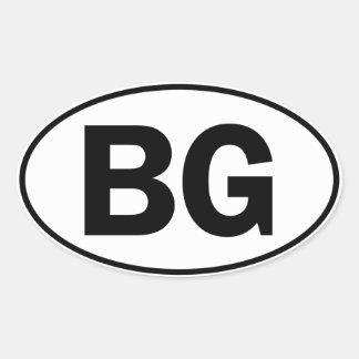 BG Oval ID Oval Sticker