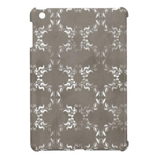 BGA WHITE SCROLLS SCRAP-BOOKING NEUTRAL BROWNS BAC iPad MINI COVER