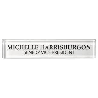 BGB Name and Title Desk Nameplates