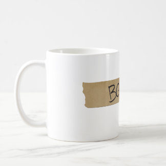 """BGVs"" Sound Board Tape Basic White Mug"