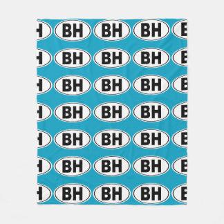 BH Beverly Hills California Fleece Blanket
