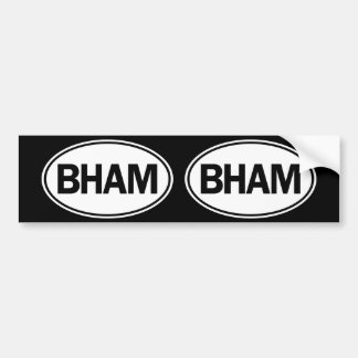 BHAM Oval ID Bumper Sticker