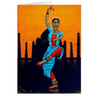 """Bharatanatyam"" Greeting Card"
