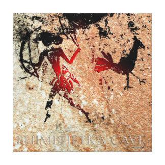Bhimbhetka Bird and The Archer Canvas Print
