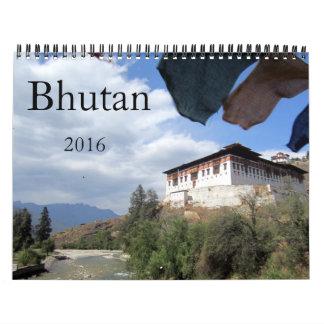 bhutan 2016 wall calendar