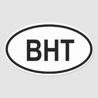 "Bhutan ""BHT"" Oval Sticker"