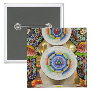 Bhutan. Ceremonial cakes made by monks adorn the 15 Cm Square Badge