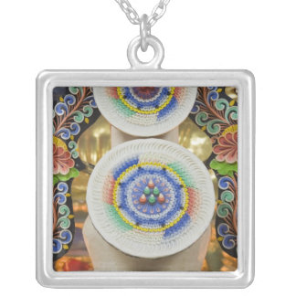 Bhutan. Ceremonial cakes made by monks adorn the Square Pendant Necklace