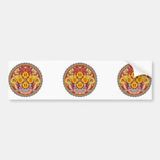 bhutan emblem car bumper sticker