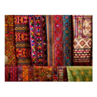 Bhutan fabrics for sale postcard