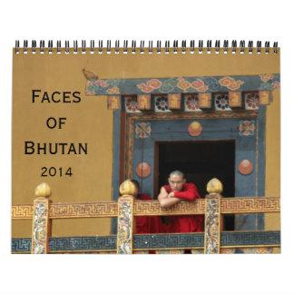 bhutan faces 2014 wall calendars