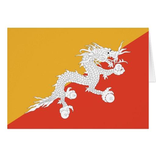 Bhutan Flag Card
