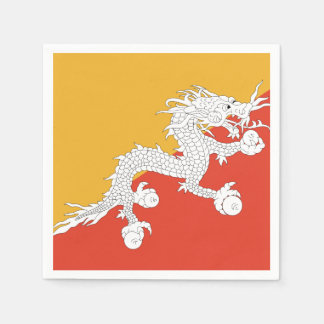 Bhutan Flag Disposable Serviette