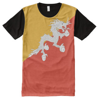 Bhutan Flag full All-Over Print T-Shirt