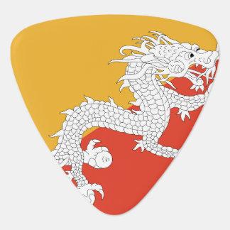 Bhutan Flag Guitar Pick