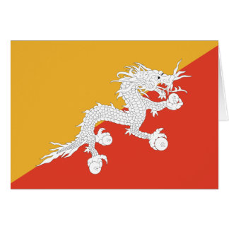 Bhutan Flag Note Card