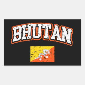 Bhutan Flag Rectangular Sticker