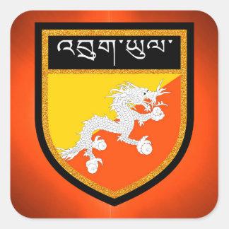 Bhutan Flag Square Sticker