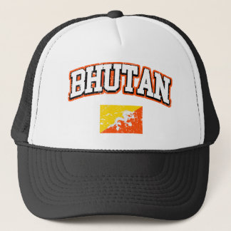 Bhutan Flag Trucker Hat