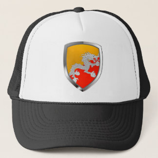 Bhutan Metallic Emblem Trucker Hat